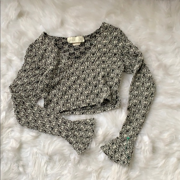 Charlotte Russe Tops - Bell Sleeve Knit Crop Top